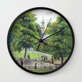 """Camille Pissarro """"Saint Anne's Church at Kew"""" (1892) Wall Clock"""
