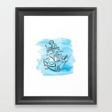 Live A Salty Life - Blue Framed Art Print