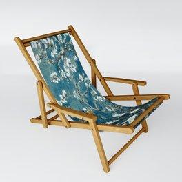 Van Gogh Almond Blossoms : Dark Teal Sling Chair