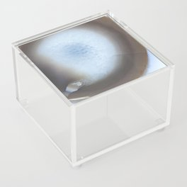 Natural Earth Tone Agate Slice Acrylic Box