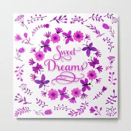 Sweet Dreams - Purple Pink Metal Print