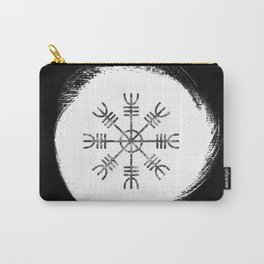 Black and White Helm of Awe | Aegishjalmur Icelandic Stave Carry-All Pouch