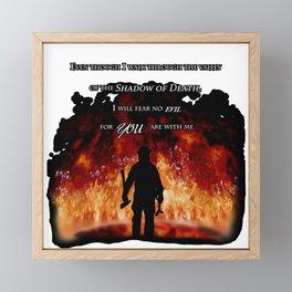 Firefighter Tribute Framed Mini Art Print