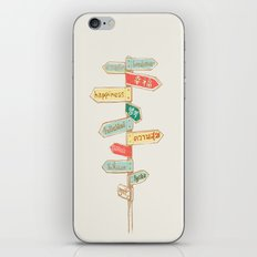 Happiness is everywhere iPhone Skin
