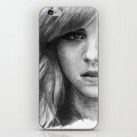 emma watson iPhone & iPod Skins featuring Emma Watson by xDontStopMeNow