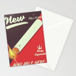King Cigarette vintage poster Stationery Cards