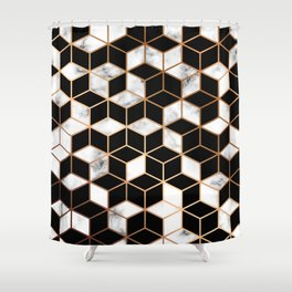Marble & Geometry 005 Shower Curtain