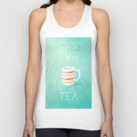 tea Tank Tops featuring Tea by Freeminds