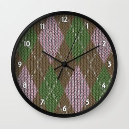 Pink Roses in Anzures 2 Argyle 1 Wall Clock