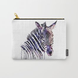 Zebra Head Carry-All Pouch