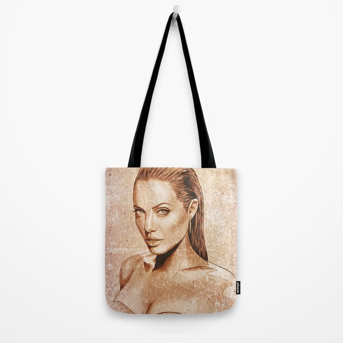 959dc3bb5d Angelina Jolie Tote Bag by renatocunha
