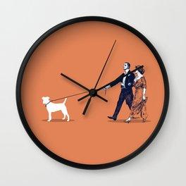Walking the Dog Wall Clock