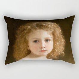 "William-Adolphe Bouguereau ""The Story Book"" Rectangular Pillow"