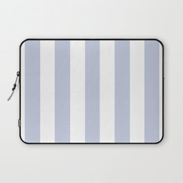 Light periwinkle blue - solid color - white vertical lines pattern Laptop Sleeve