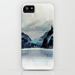 Rectangles - Perspective of Milford Sound iPhone Case