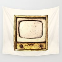 tv Wall Tapestries featuring Old Television by Mr and Mrs Quirynen