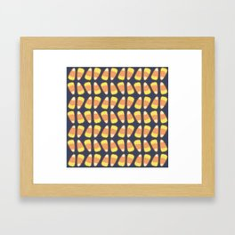 Candy Corn Tango in Navy Framed Art Print