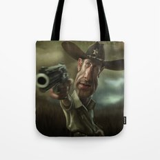 Rick Grimes from 'The Walking Dead'. Tote Bag