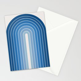 Gradient Arch - Blue Tones Stationery Cards