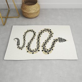 Serpent – Black & Gold Rug