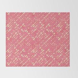 Coral Shibori Throw Blanket