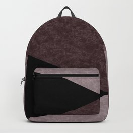 Black and brown marble Backpack