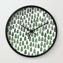 Tiny Forest Wall Clock