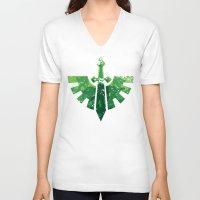 warhammer V-neck T-shirts featuring Angels on the horizon by HenkusFilijokus