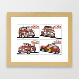 Monte Carlo Rally Mini Coopers Framed Art Print
