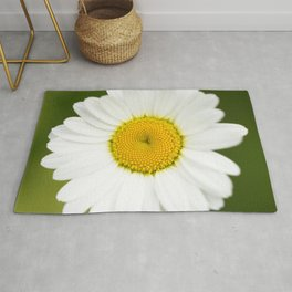 Beautiful Daisy Natural Green Background #decor #society6 #buyart Rug