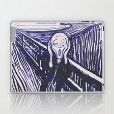 The Scream's Haze (dark blue) Laptop & iPad Skin