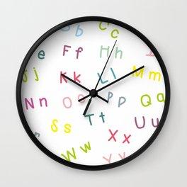An Alphabet Wall Clock