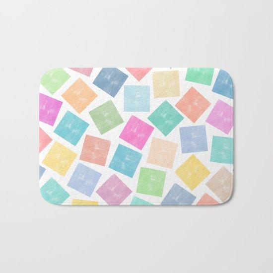 Colorful Geometric Patterns II Bath Mat