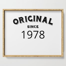 ORIGINAL | 1978 Birthday Shirt Serving Tray