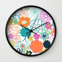 chelsea Wall Clocks featuring Chelsea by Elephant & Rose