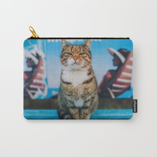 Suspicious cat Carry-All Pouch