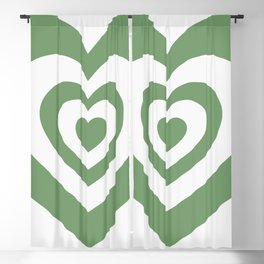 Hypnotic Green Hearts (viii 2021) Blackout Curtain