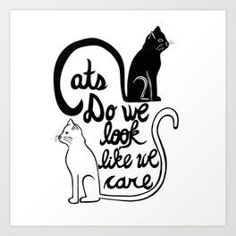 Cats: Do we look like we care? Art Print