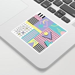 Memphis Pattern 27 - 80s - 90s Retro / 1st year anniversary design Sticker