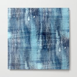 Turquoise & Dark Grey Abstract Metal Print