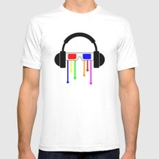 Technicolor tears  White Mens Fitted Tee SMALL