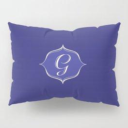 G Monogram Royal Blue Pillow Sham