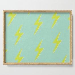 Lightning Pattern Serving Tray