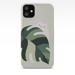 Cat and Plant 12B iPhone Case