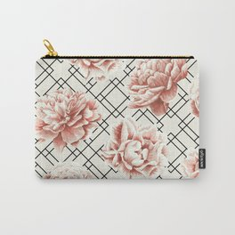 Simply Mod Diamond Roses in Cream and Black Carry-All Pouch