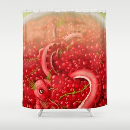 Berry dragon Shower Curtain