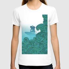 Surfer Dude Hangin Ten T-shirt
