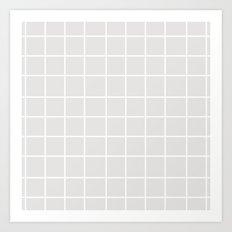 Grid (White/Platinum) Art Print