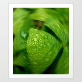 Shamrock Twirl Art Print