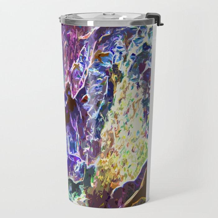 Abstract Trippy Waterfalls Travel Mug